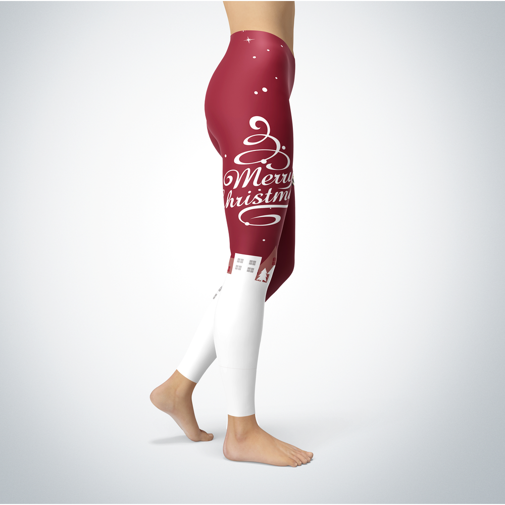 Santa Merry Christmas - Wisconsin-La Crosse Eagles - Leggings Front picture
