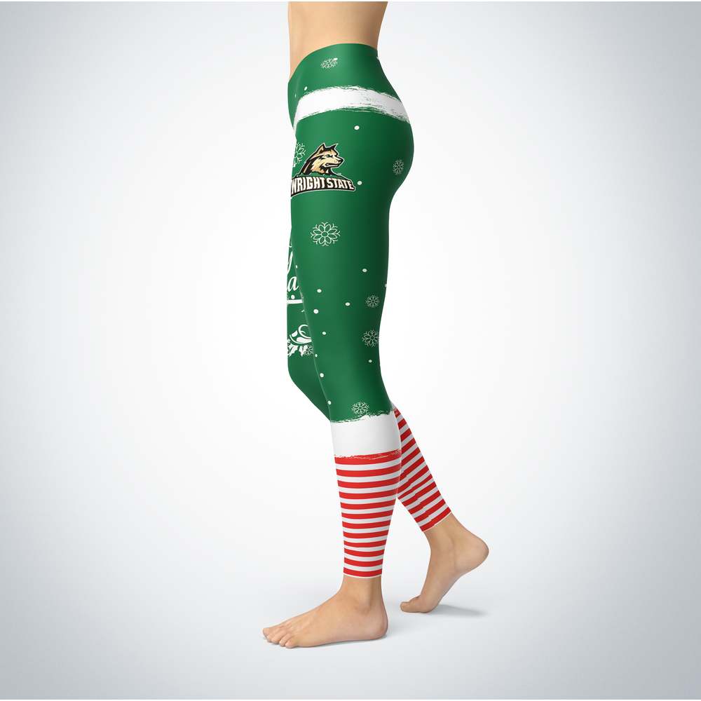 Elf Christmas Wright State Raiders Leggings Front picture