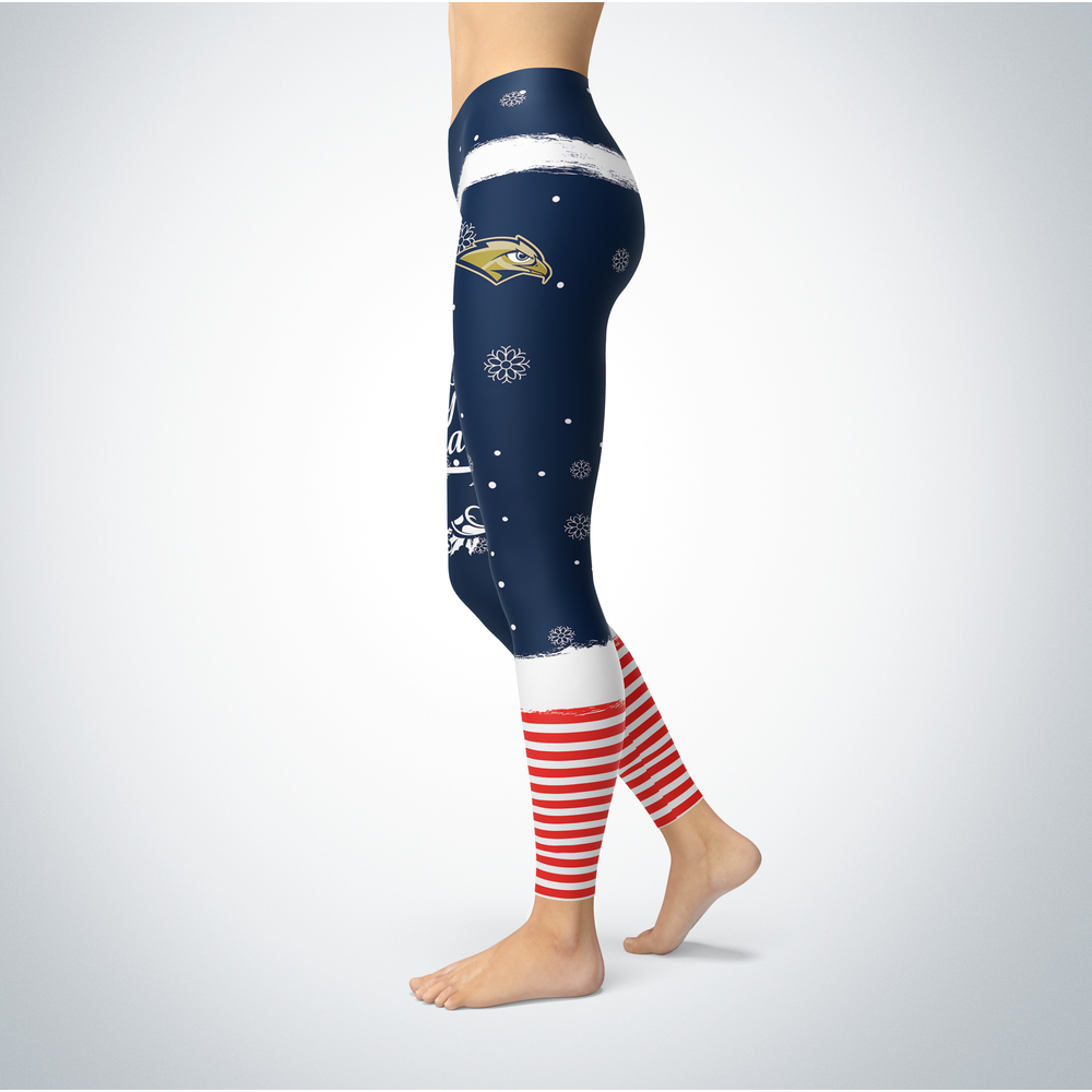 Elf Christmas Oral Roberts Golden Eagles Leggings Front picture