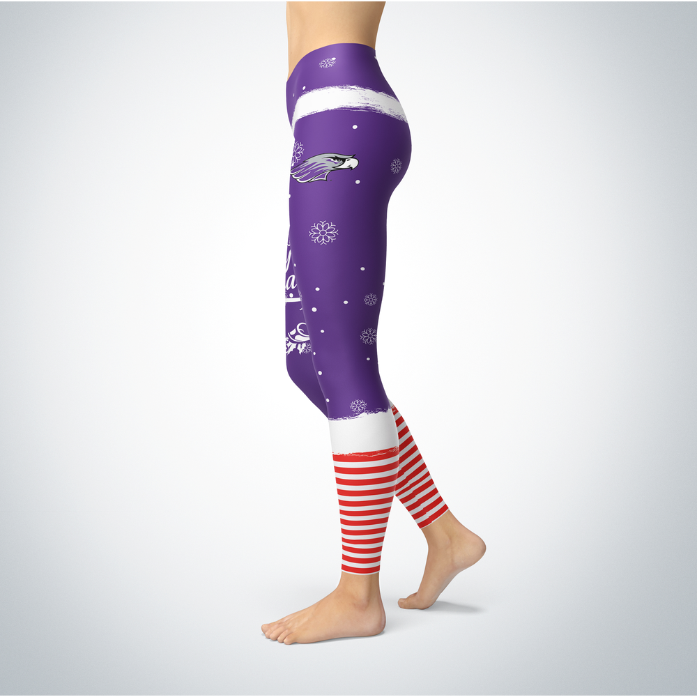 Elf Christmas Wisconsin-Whitewater Warhawks Leggings Front picture