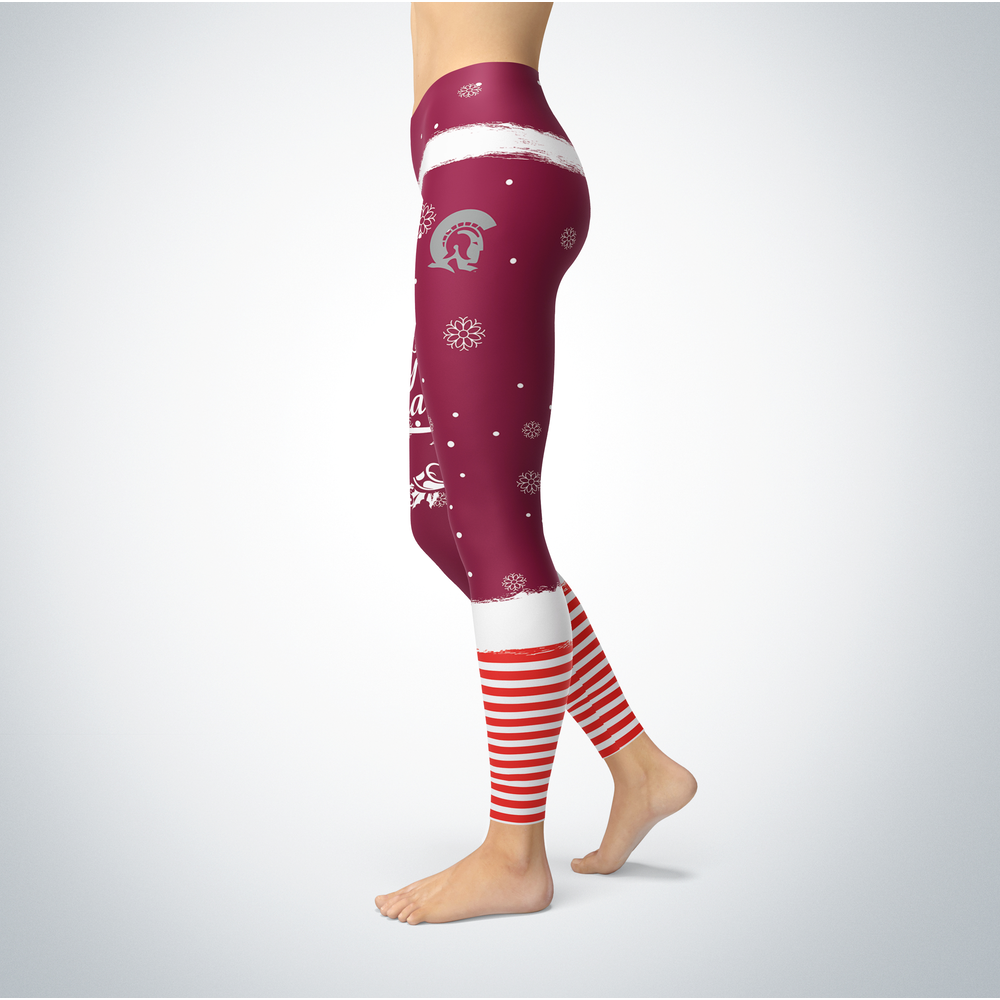 Elf Christmas Arkansas Little Rock Trojans Leggings Front picture