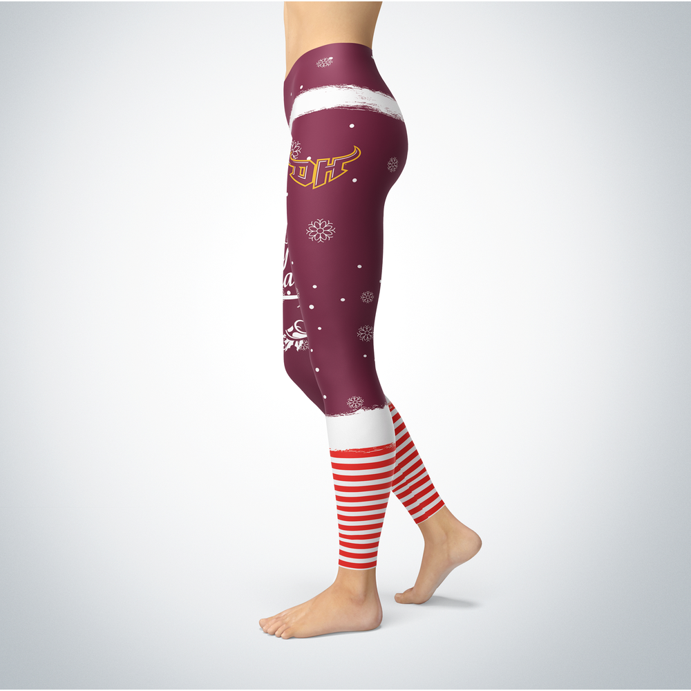 Elf Christmas Cal State Dominguez Hills Toros Leggings Front picture