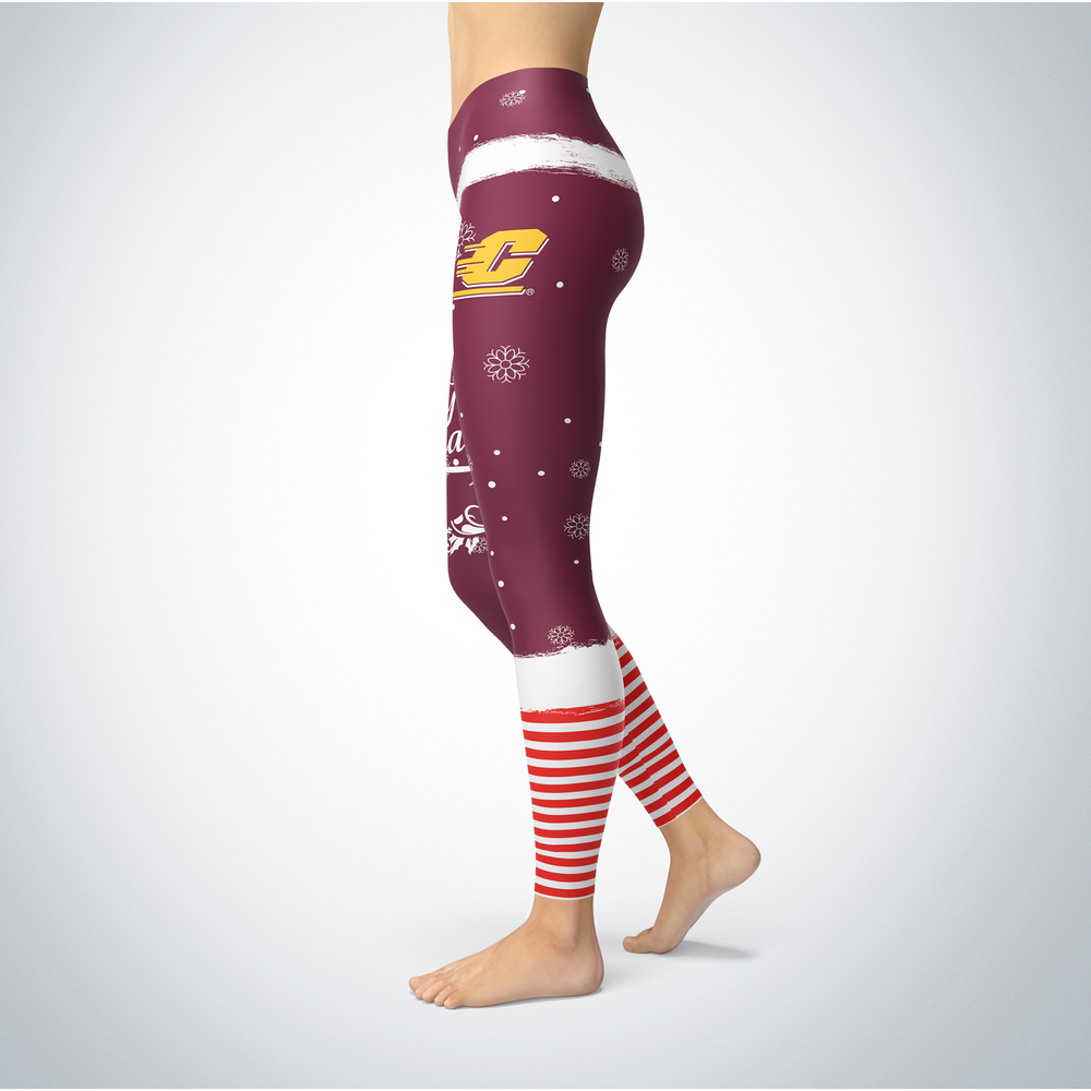 Elf Christmas Central Michigan Chippewas Leggings Front picture