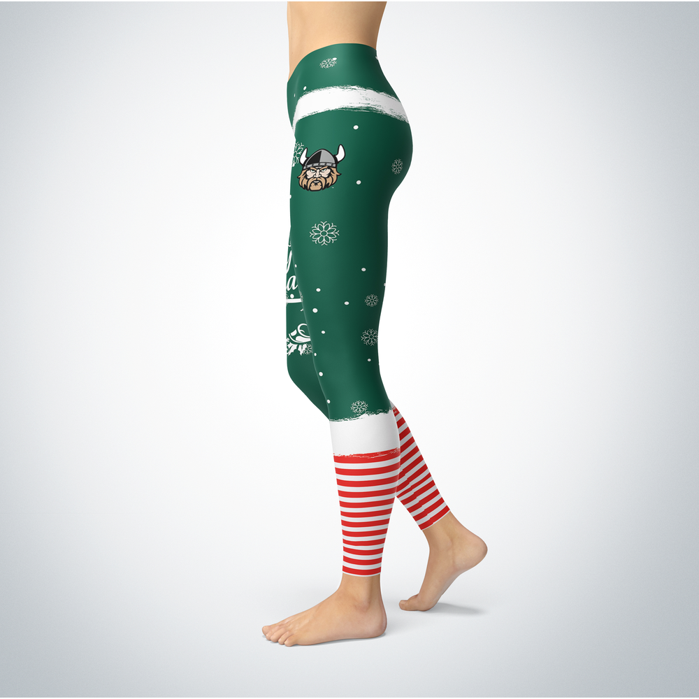 Elf Christmas Cleveland State Vikings Leggings Front picture