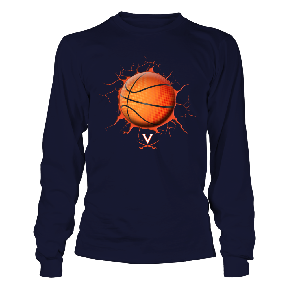 Virginia Cavaliers - Cracked Basketball Front picture