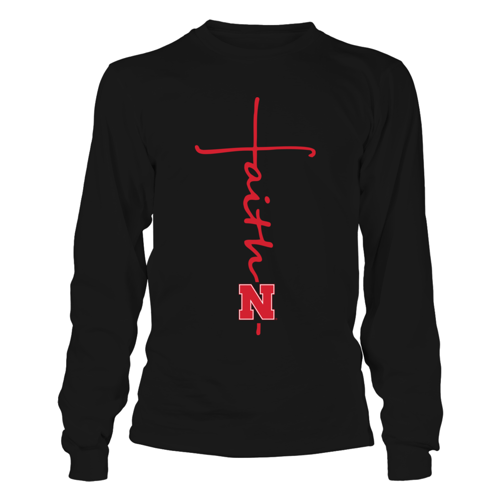 Nebraska Cornhuskers - Faith In Cross Shape - IF-IC17-DS63 Front picture