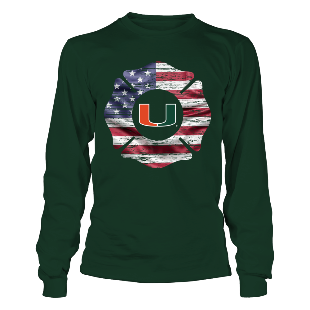 Miami Hurricanes - Firefighter - Scratch Firefighter Logo Front picture