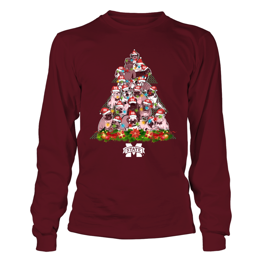 Mississippi State Bulldogs - Dogs In Christmas Tree Front picture