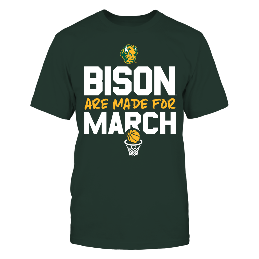 Made for March North Dakota State Bison T-Shirt Front picture