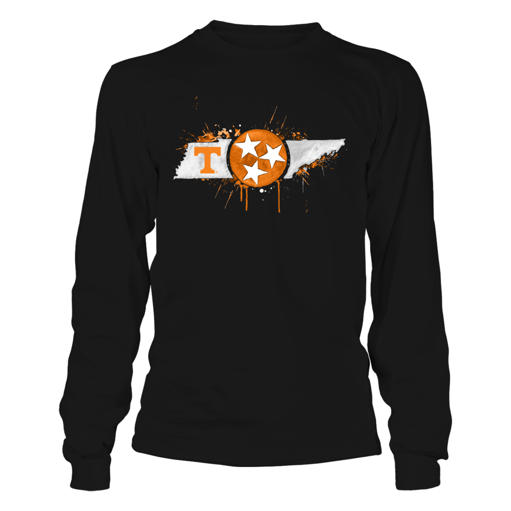 Tennessee Volunteers - Color Drop State Map Front picture