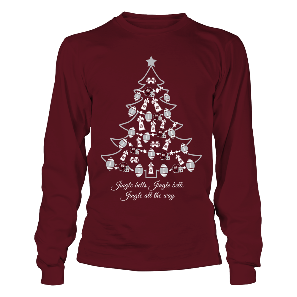 Mississippi State Bulldogs - Christmas - Cowbell Xmas Tree Front picture