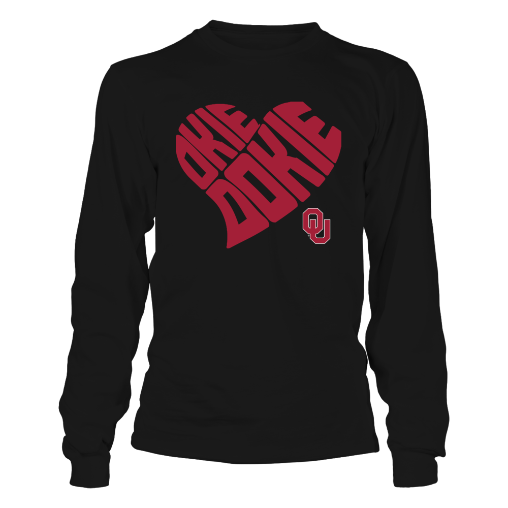 Oklahoma Sooners - Okie Dokie Heart Shape Front picture