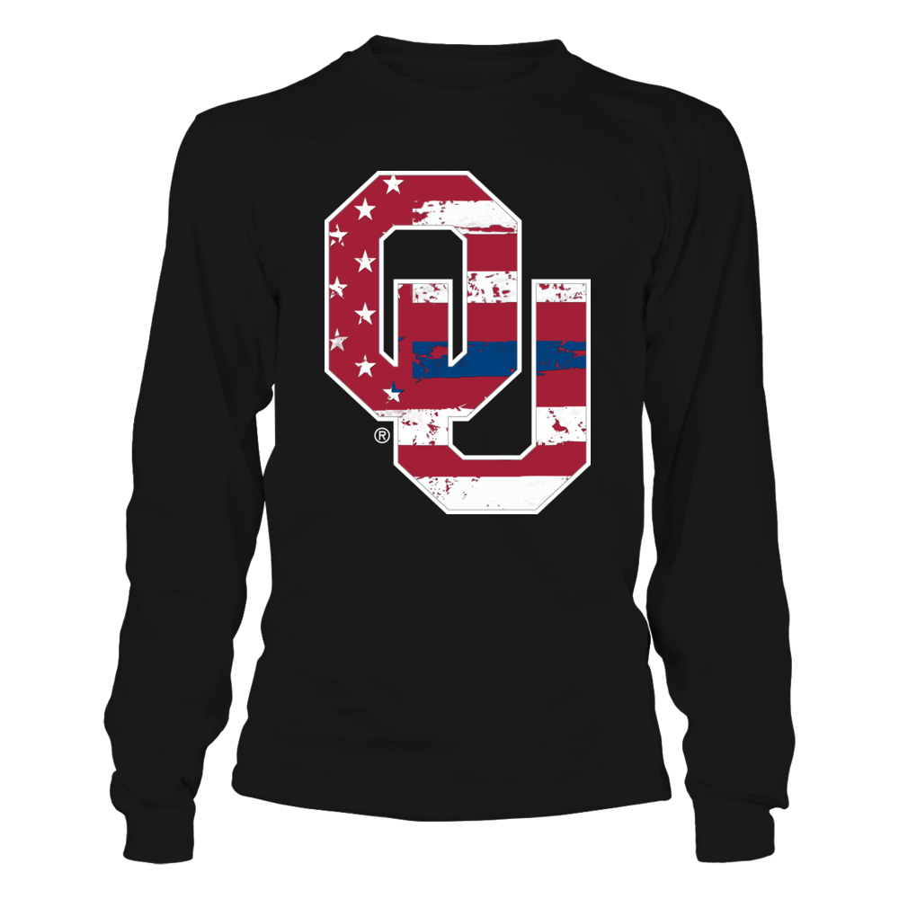 Oklahoma Sooners - Police - Logo Flag - Thin Blue Line Front picture