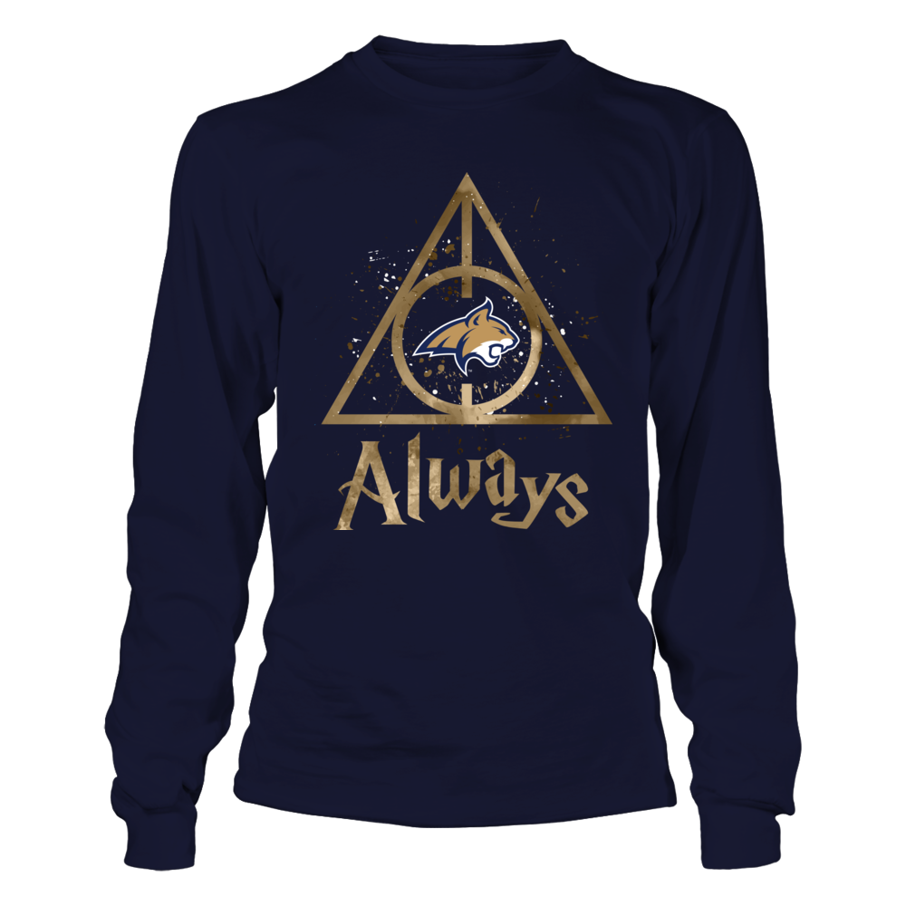 Montana State Bobcats - Color Drop Deathly Hallows Front picture