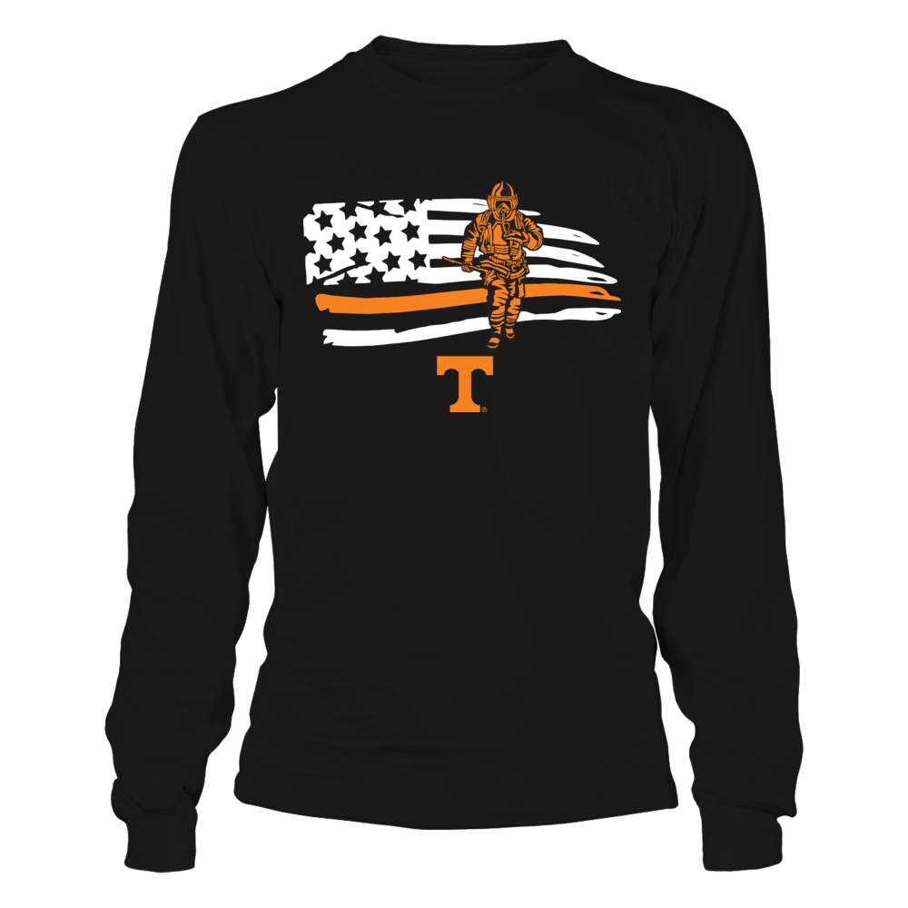 Tennessee Volunteers - Firefighter - Firefighter Inside Distressed Flag Front picture