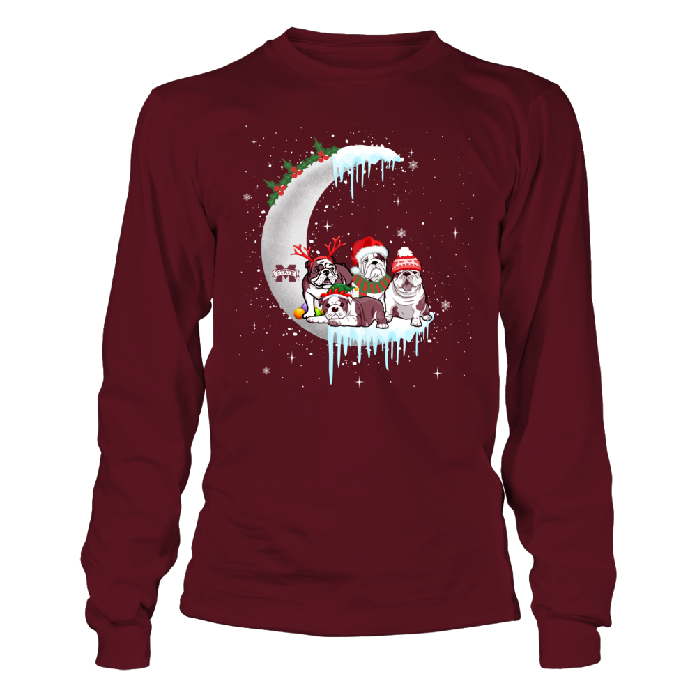 Mississippi State Bulldogs - Christmas Dogs On The Moon Front picture