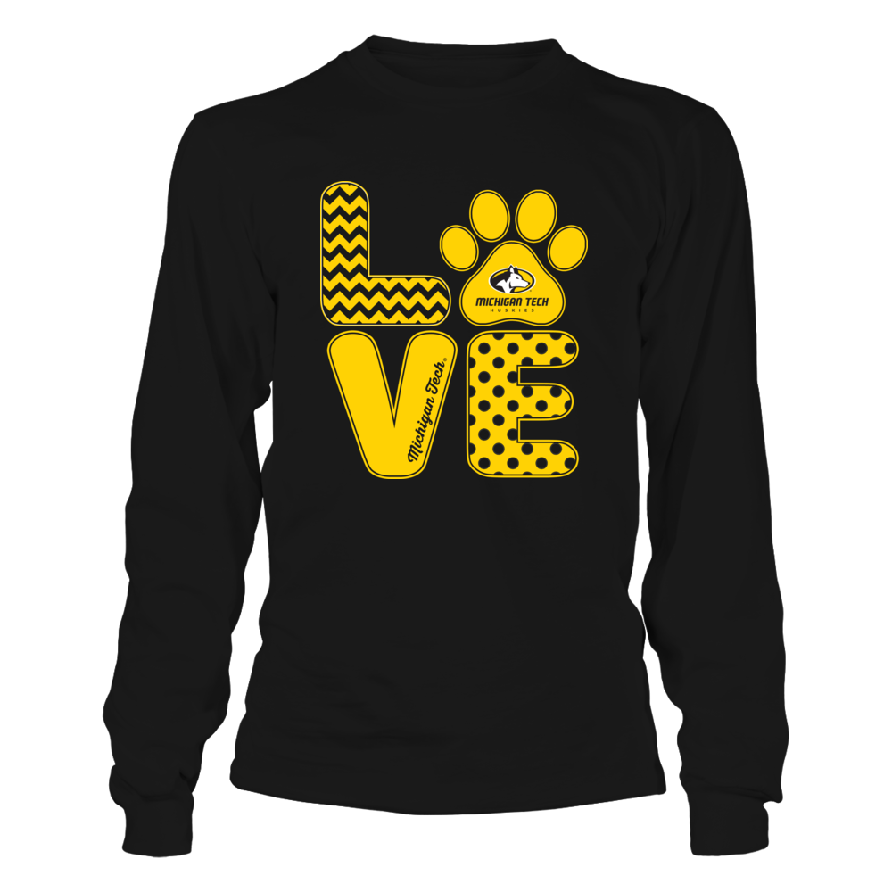 Michigan Tech Huskies - Love - Paw Front picture