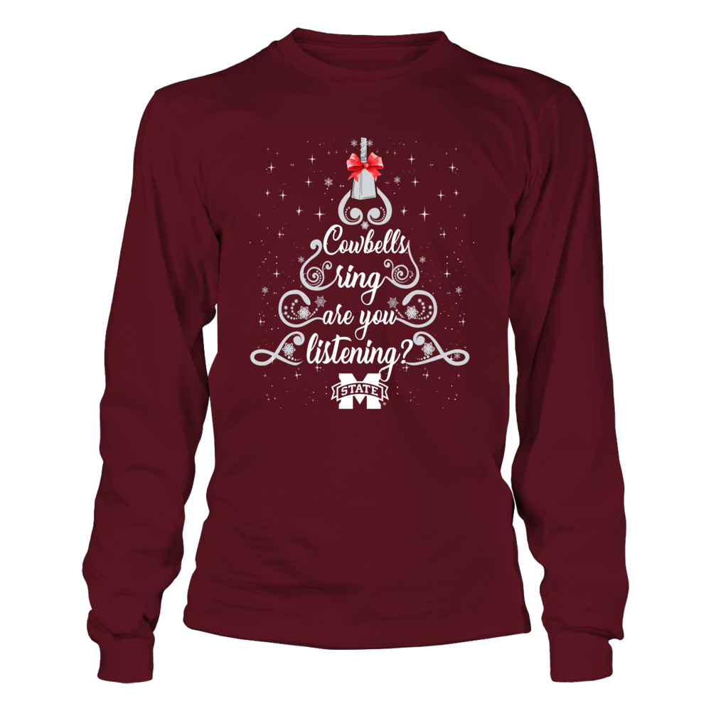 Mississippi State Bulldogs - Cowbells Ring Christmas Tree Front picture