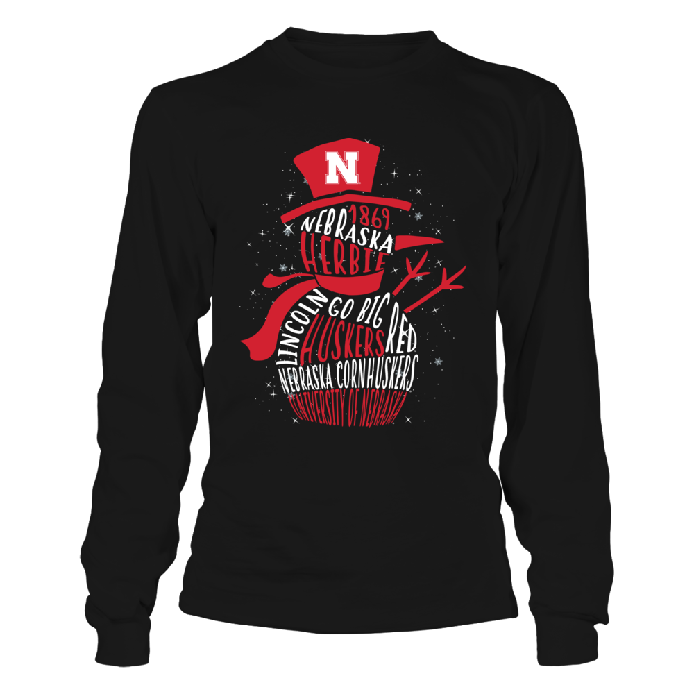 Nebraska Cornhuskers - Snowman of Team Quotes Front picture