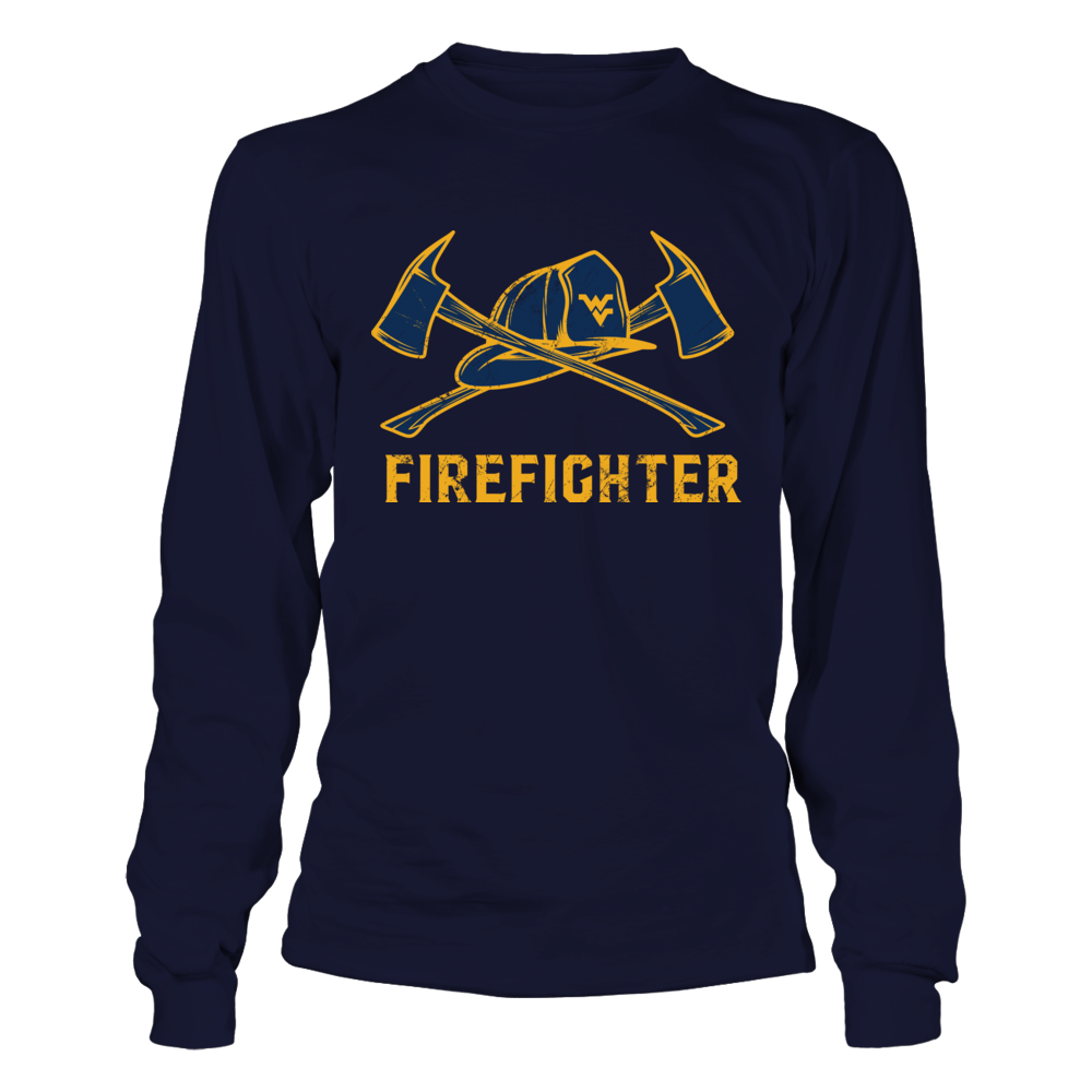 West Virginia Mountaineers - Firefighter Axe Flag Front picture