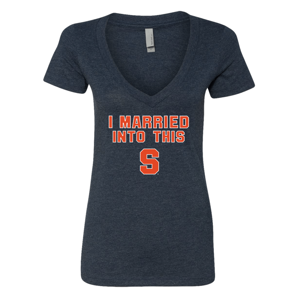 Syracuse Orange - I Married Into This (Team Specific Font) Front picture