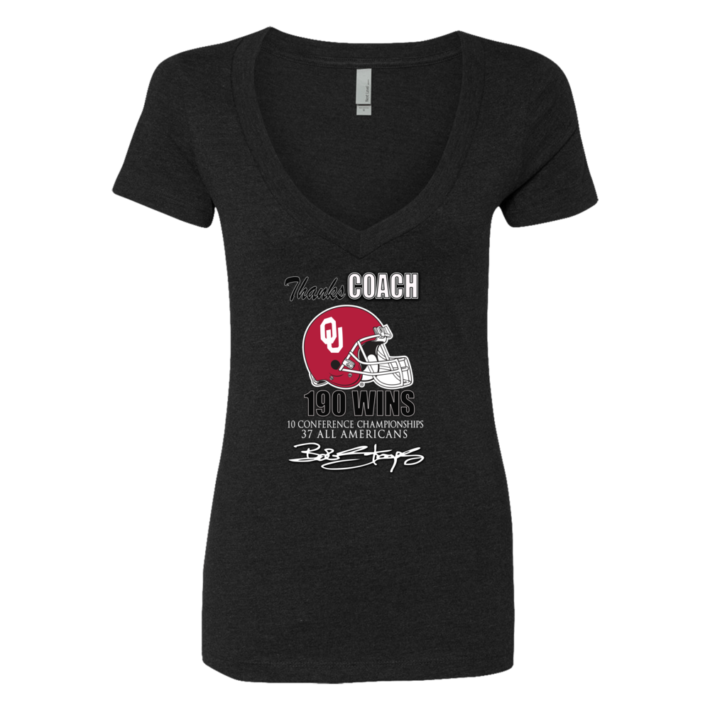 Thanks Coach Stoops for 190 Wins! Get this Official Commemorative Oklahoma Sooner Football Shirt While Supplies Last Front picture