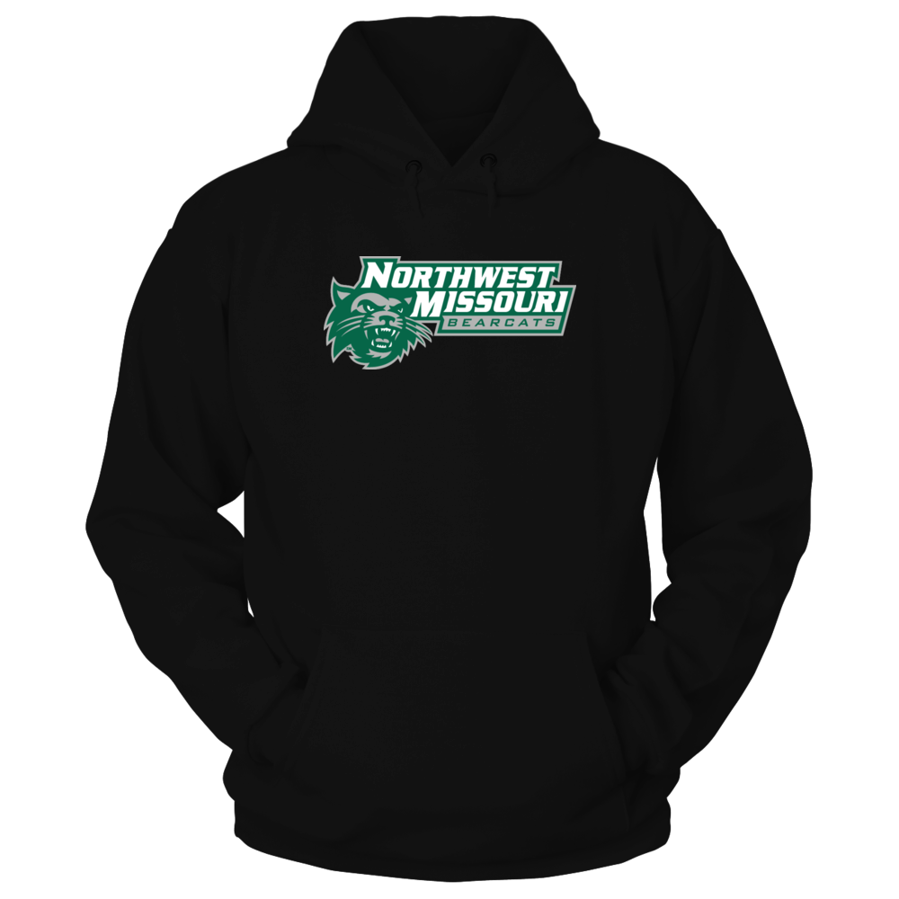 Northwest Missouri Bearcats w/Head w/paw print on back right shoulder Front picture