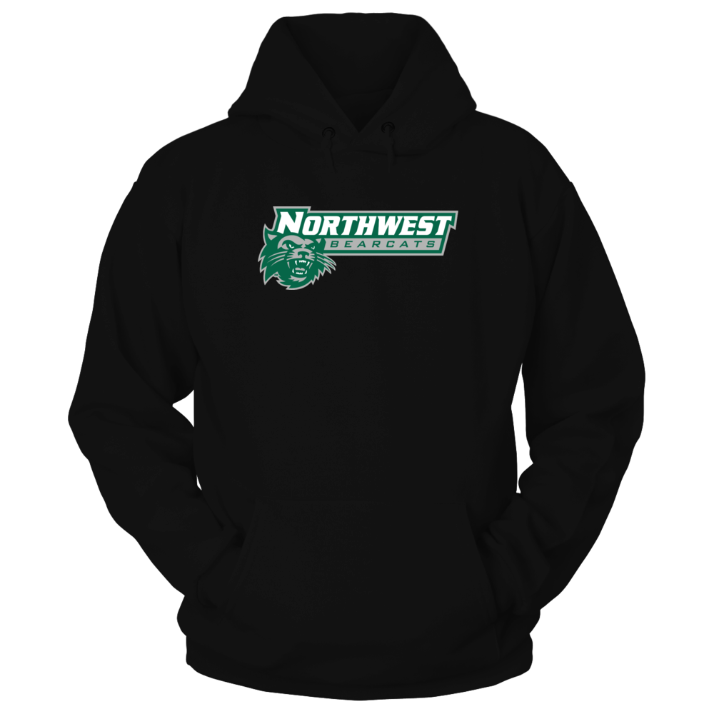 Northwest Bearcats w/paw print on back right shoulder Front picture