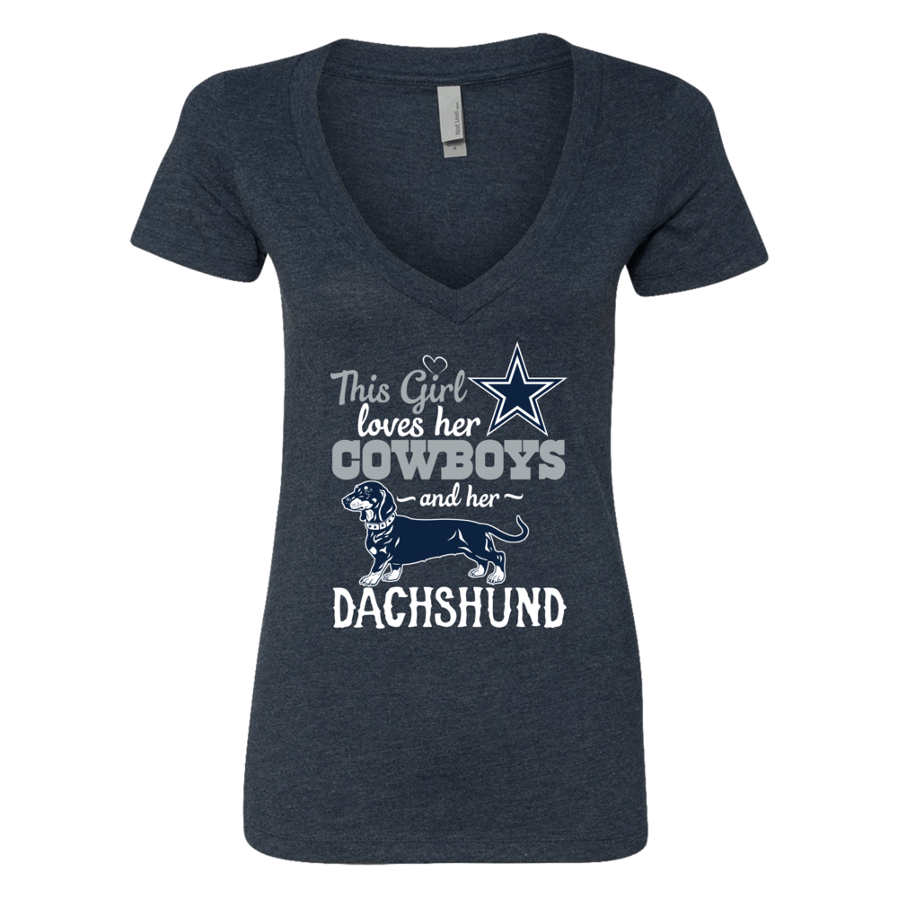 Dallas Cowboys - This Girl lover her Dachshund Front picture