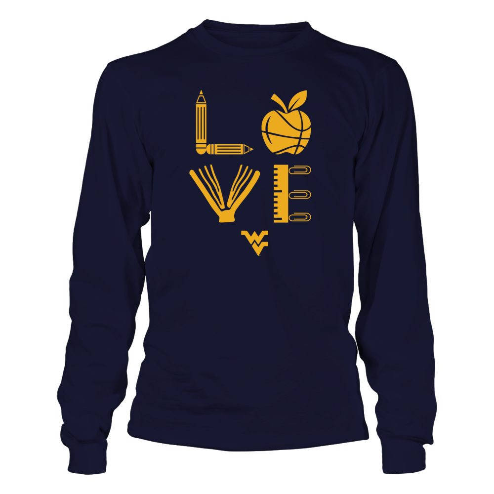 West Virginia Mountaineers - Teacher - Stacked Love Basketball Front picture