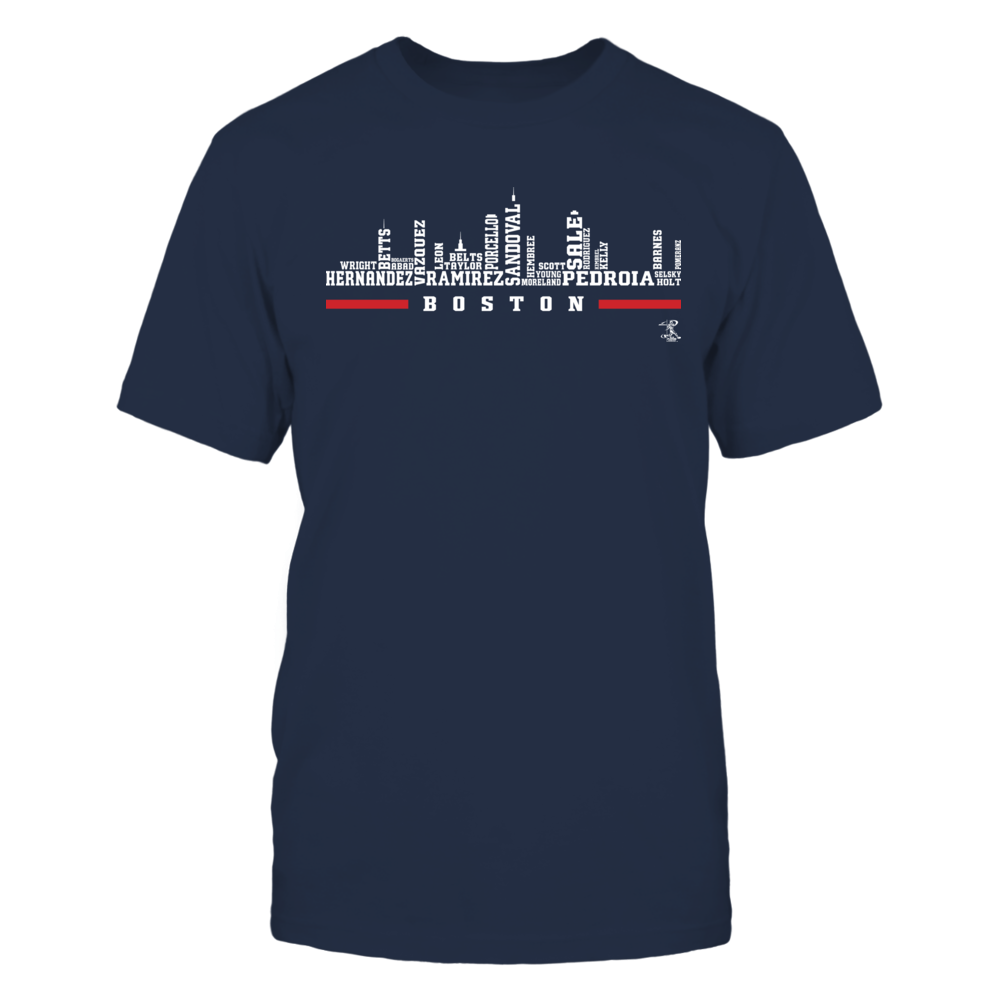 Dustin Pedroia Dustin Pedroia - Boston Skyline Roster FanPrint