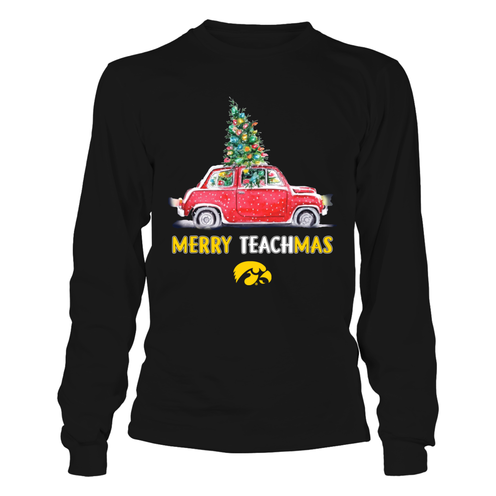 Iowa Hawkeyes - Christmas - Merry Teachmas Truck Front picture