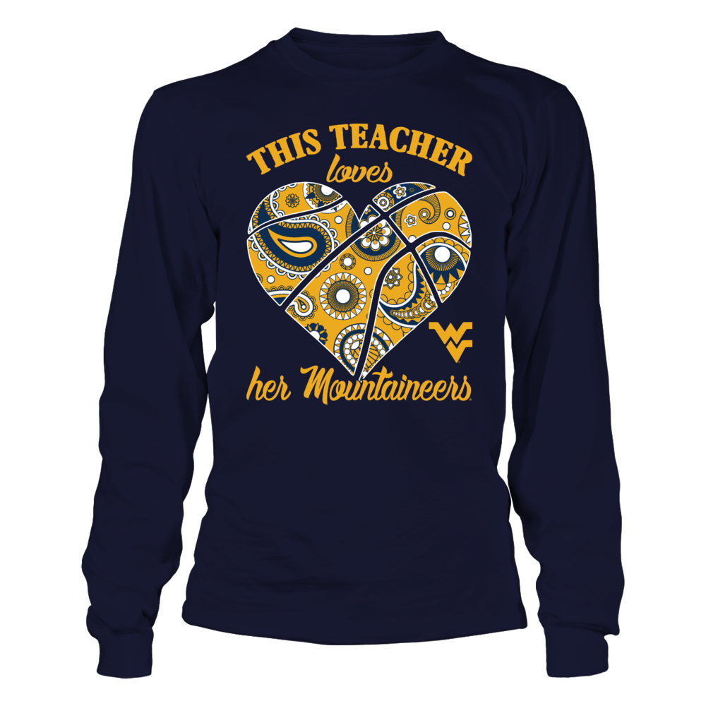 West Virginia Mountaineers - This Teacher Loves Her Team Paisley Basketball Front picture