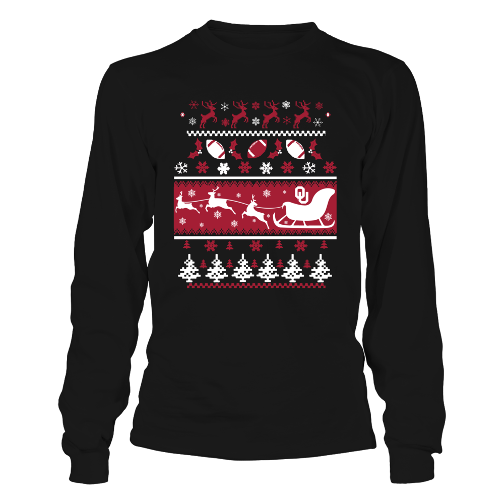 Oklahoma Sooners - Team Ugly Christmas Sweaters Front picture