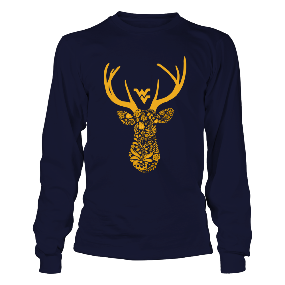 West Virginia Mountaineers - Hunting - Floral Deer Front picture