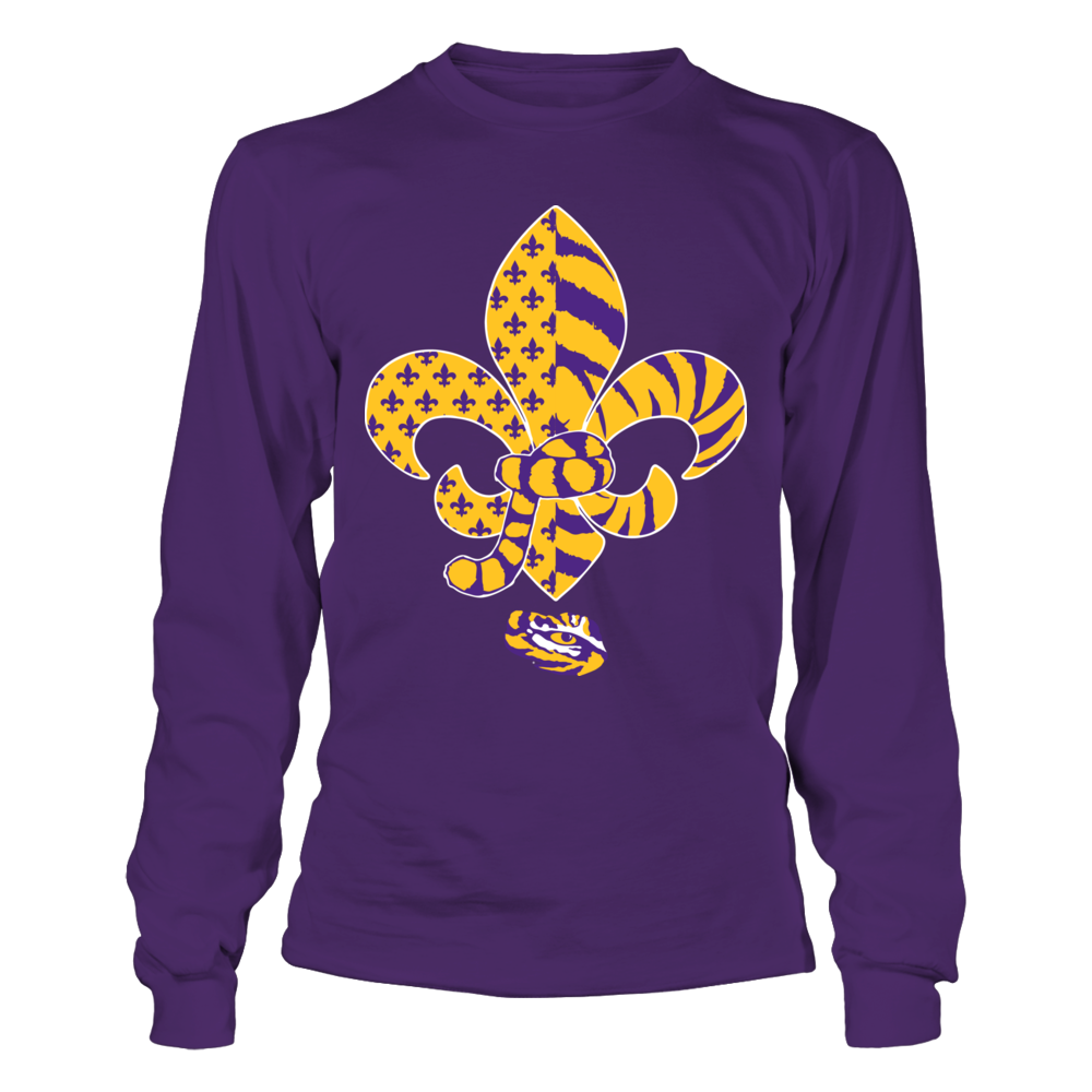 LSU Tigers - Fleur De Lis -  Tiger Tail Front picture