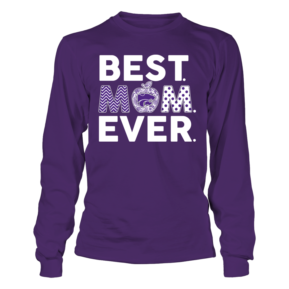 Kansas State Wildcats - Teacher - Best Mom Ever - Apple Front picture