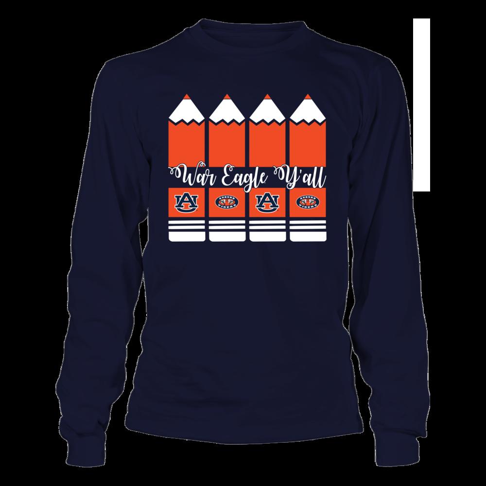 Auburn Tigers - Teacher - Pencils - Cut Through Front picture