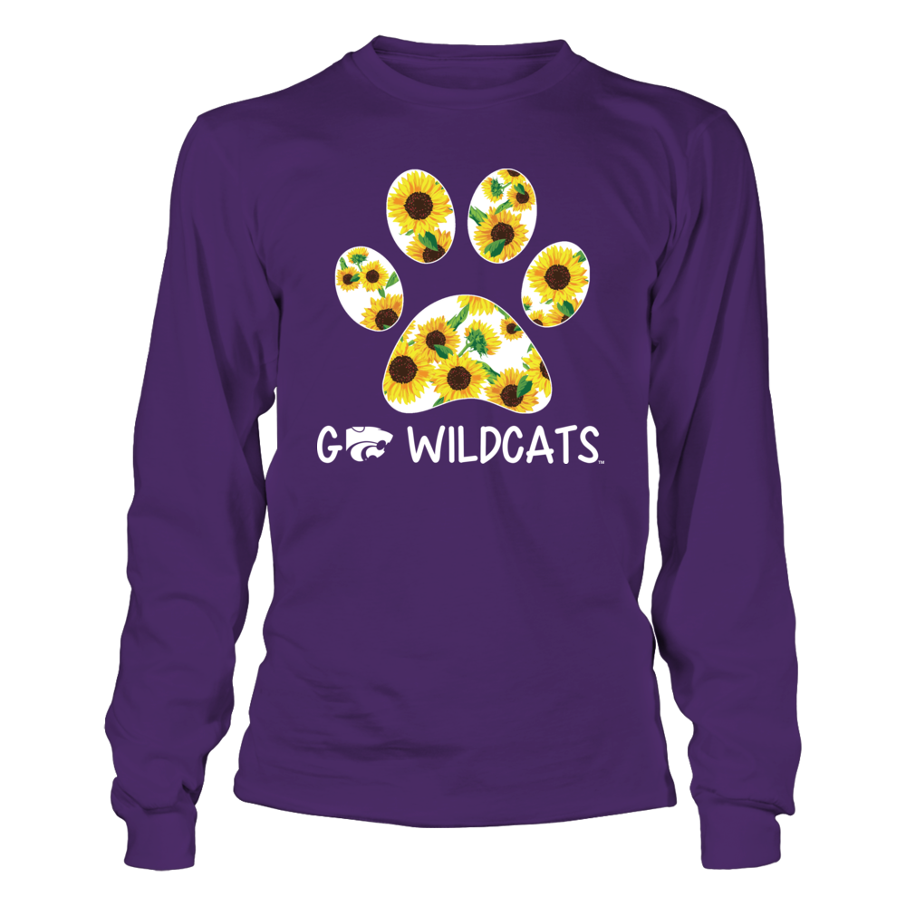 Kansas State Wildcats - Paw With Sunflower Pattern Front picture