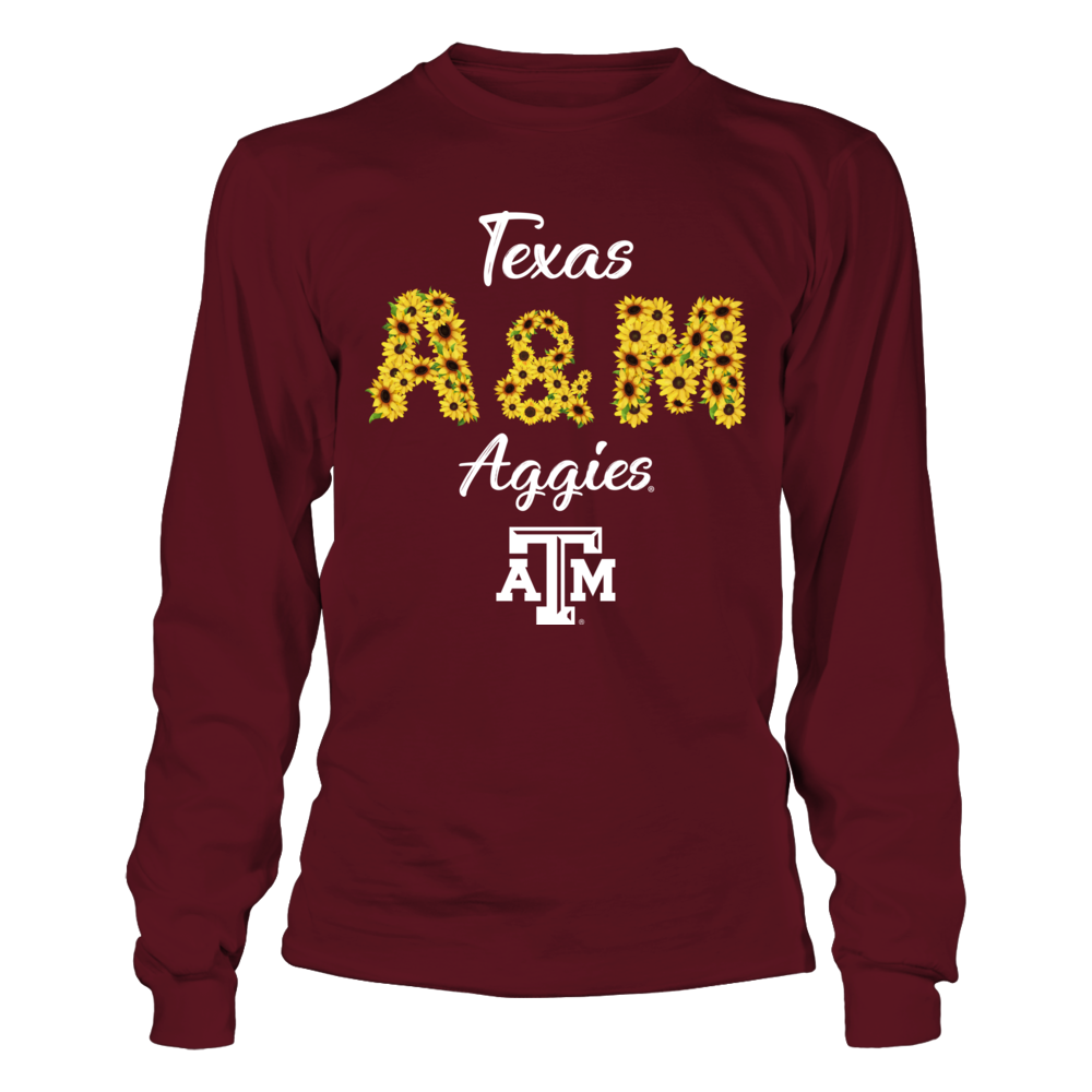 Texas A&M Aggies - Sunflower - Team Name Front picture