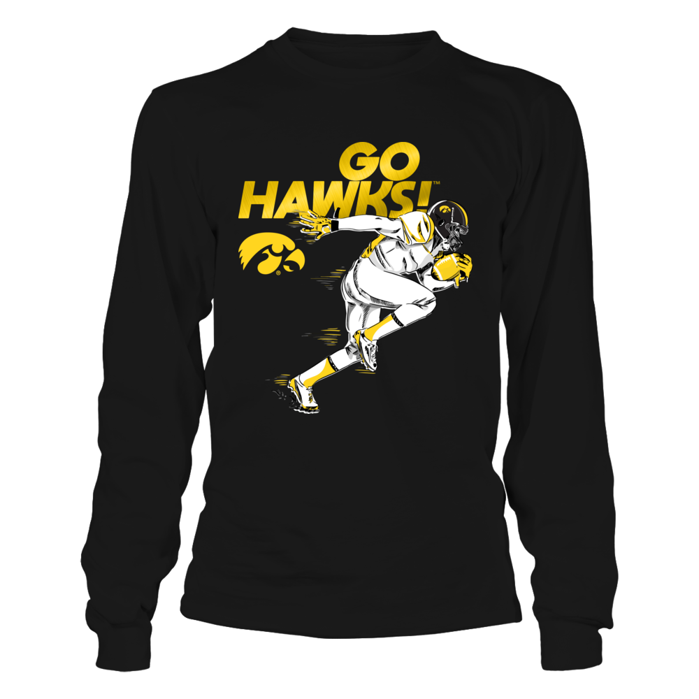 Iowa Hawkeyes - Flash Football Player Front picture