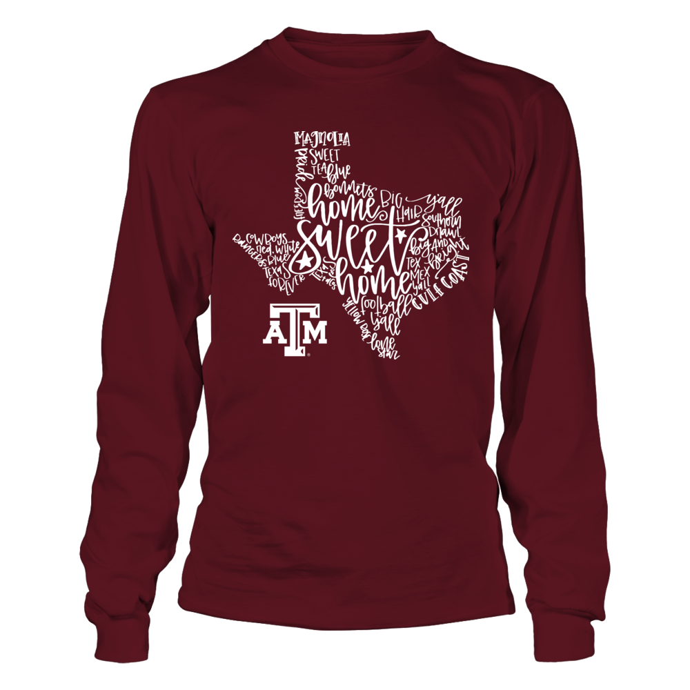 Texas A&M Aggies - All About Texas - State Map Front picture