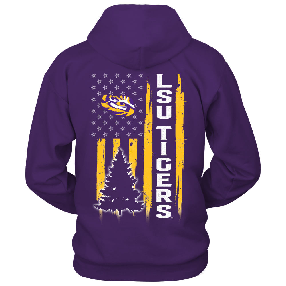 LSU Tigers - Christmas - Flag Shirt Back picture