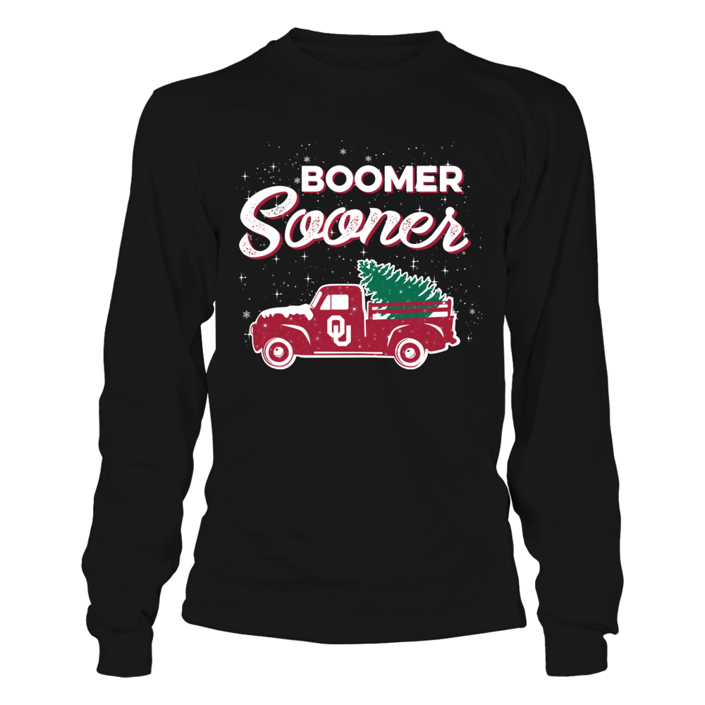 Oklahoma Sooners - Christmas Truck - Merry Christmas Front picture