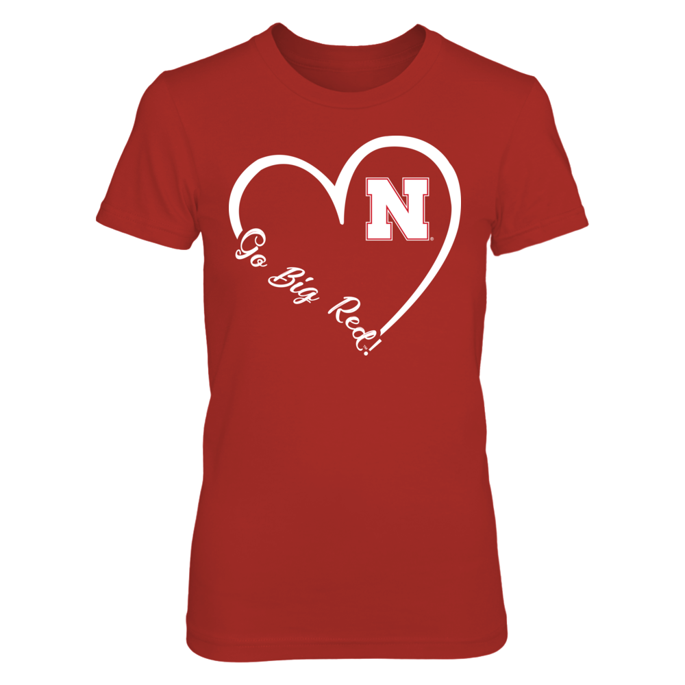 Nebraska Cornhuskers - 3/4th Heart Slogan - Go Big Red Front picture