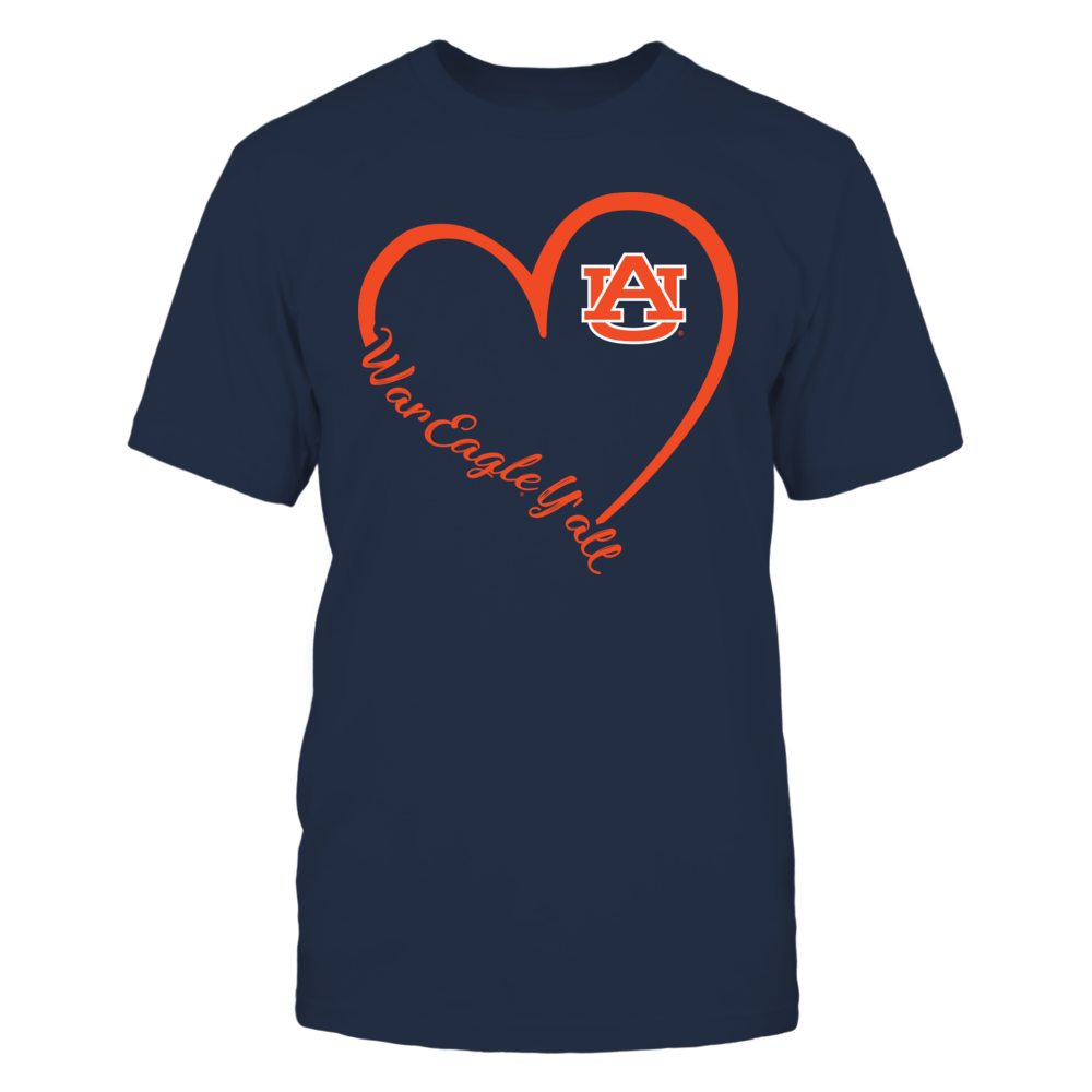 Auburn Tigers - Heart 3/4 Front picture