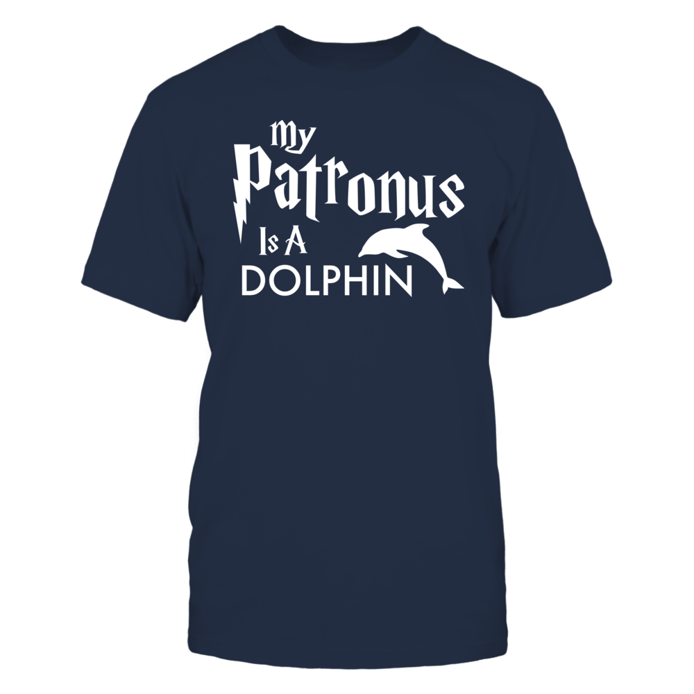 My Patronus Is A Dolphin -- Women's Styles -- White Font Front picture