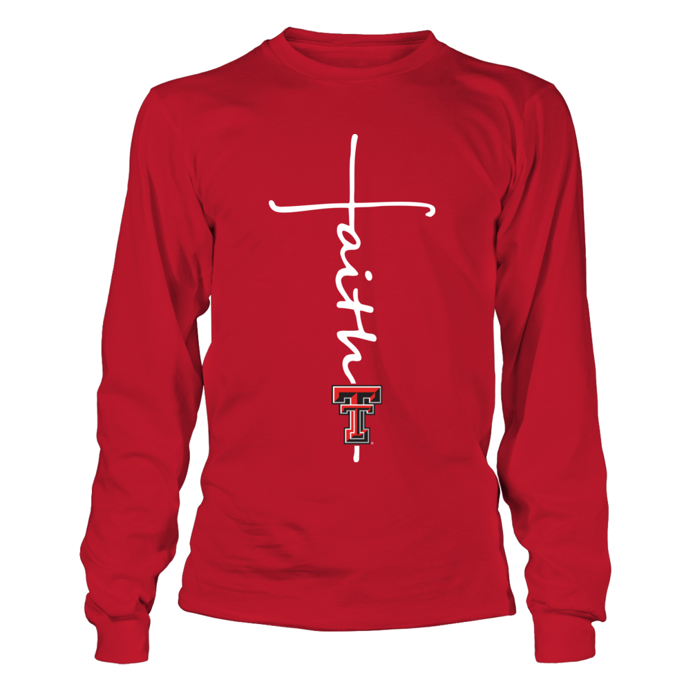 Texas Tech Red Raiders - Faith In Cross Shape - Red Shirt Front picture