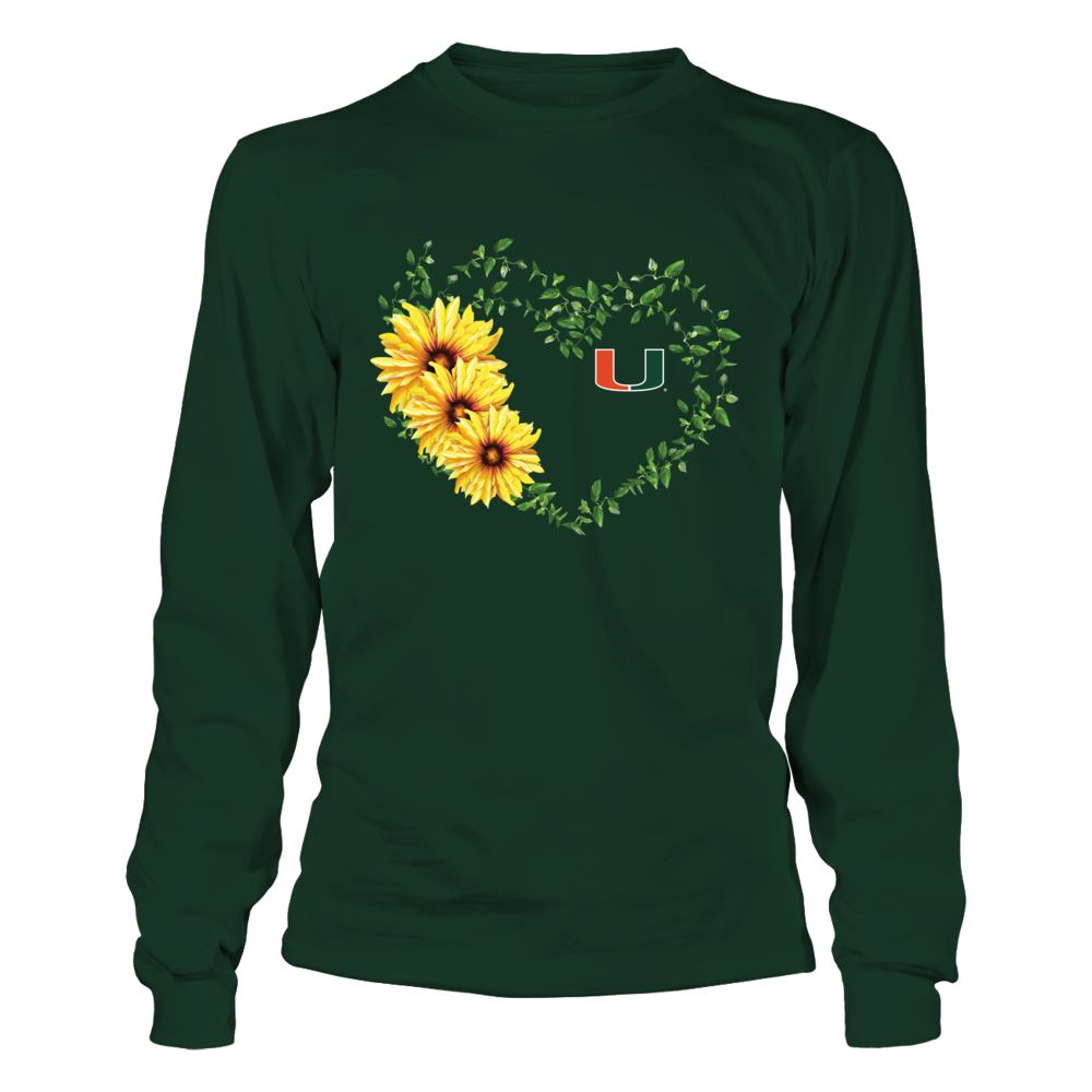 Miami Hurricanes - Sunflower Vines Heart Front picture
