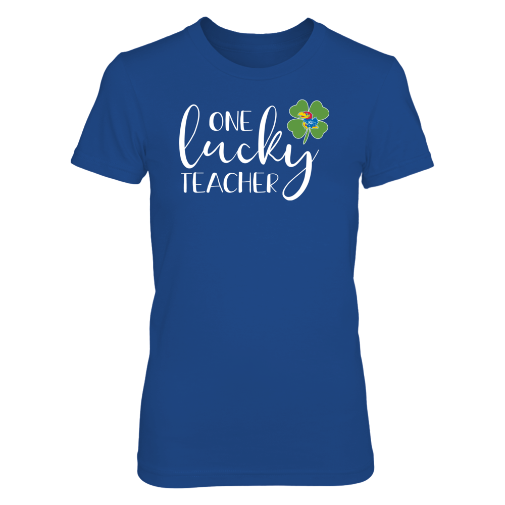 One Lucky Teacher Kansas Jayhawks T-Shirt Front picture